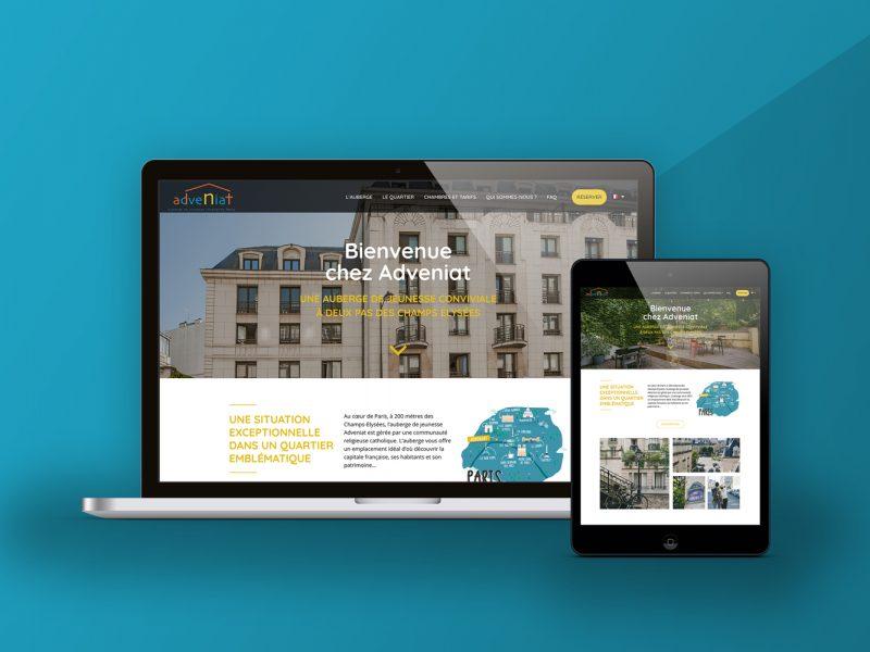 Site web pour auberge de jeunsess Adveniat