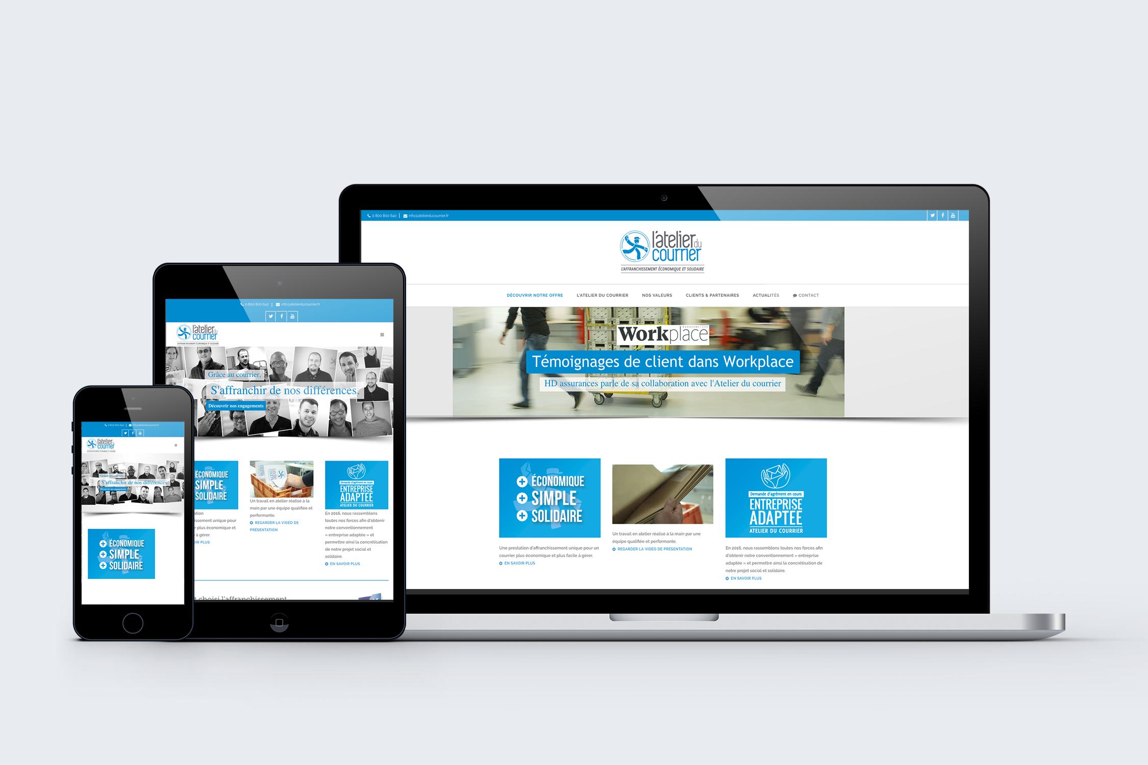 création site web Atelier du courrier