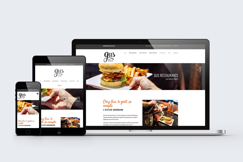 conception de site web sous wordpress pour restaurant
