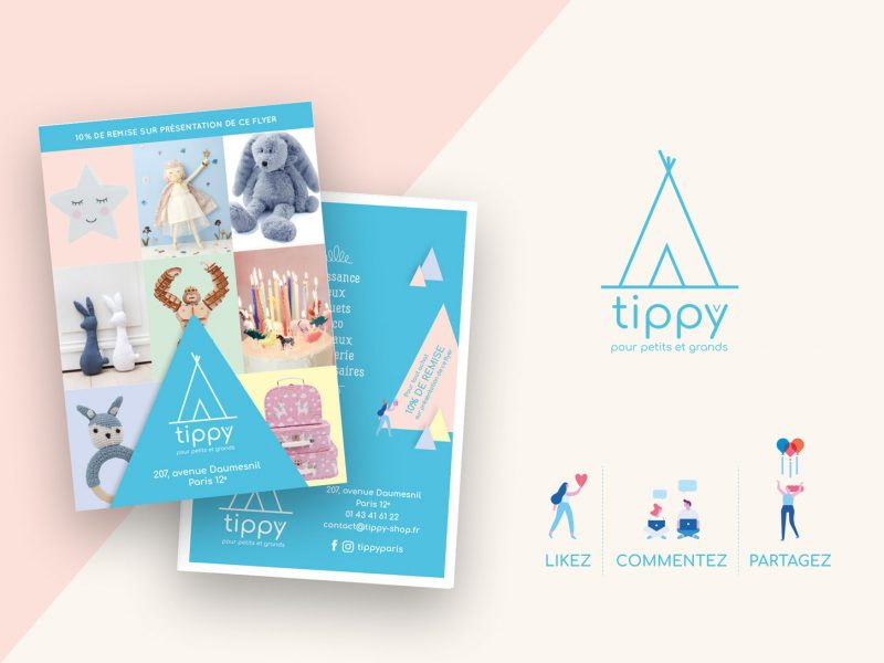 conception de flyer pour tippy