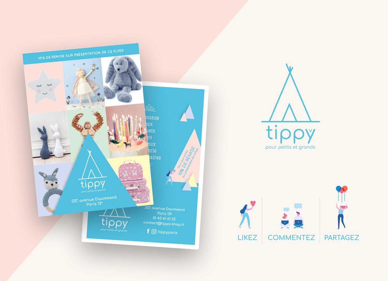conception de flyer pour tippy